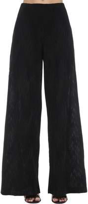 M Missoni Flared Intarsia Lurex Knit Pants