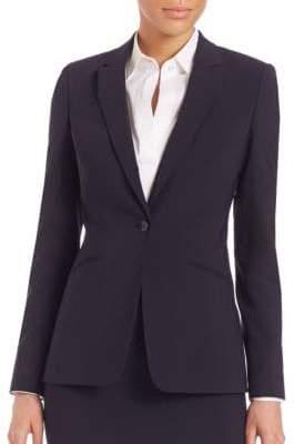 BOSS Javina Stretch-Wool Long Jacket