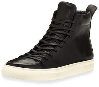 John Varvatos Men's 315 Reed Leather Mid-Top Sneakers
