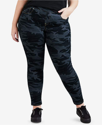 Levi's Plus Size Camo-Print Pull-On Skinny Jeans