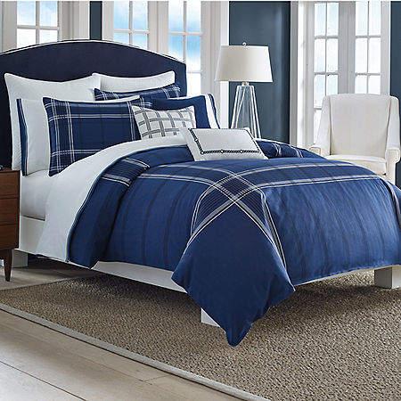 Haverdale Navy King Comforter Set