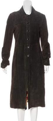 Carlisle John Leather Long Coat