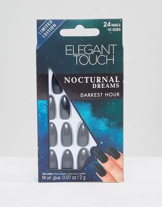Elegant Touch Nocturnal Dreams Stiletto False Nails - Darkest Hour