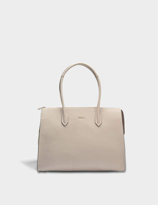 Furla Pin L Satchel Bag in Vanilla Calfskin