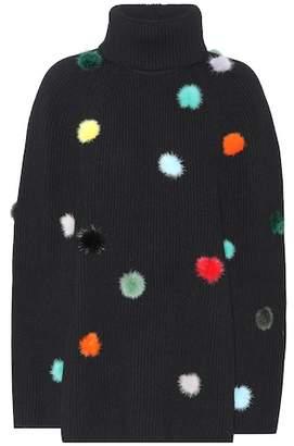 Fendi Fur-trimmed cashmere sweater