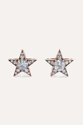 Selim Mouzannar Istanbul 18-karat Rose Gold, Diamond And Aquamarine Earrings