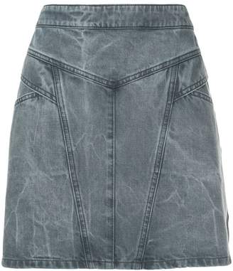 Givenchy panelled denim mini skirt