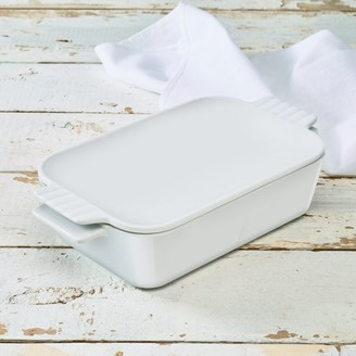 Unbranded White Collection Casserole Baking Dish With Lid, Walmart Exclusive