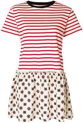 RED Valentino striped jersey dress