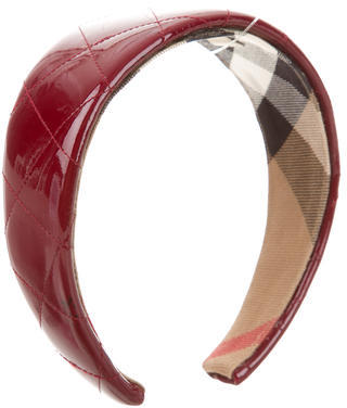 Burberry Burberry Quilted Patent Leather Headband