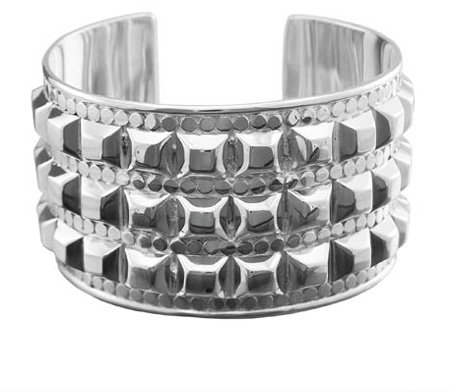 Anna Beck Studded Silver Bold Cuff