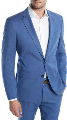 BOSS Men's Bright Solid Two-Piece Wool Suit