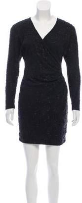 Carmen Marc Valvo Embellished Mini Dress Black Embellished Mini Dress