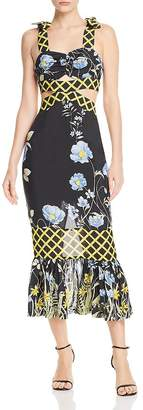 Alice McCall Flower Girl Cutout Midi Dress