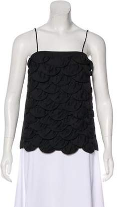 Chanel Sleeveless Scalloped Top