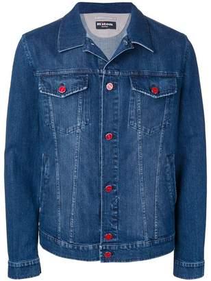 Kiton denim structured jacket