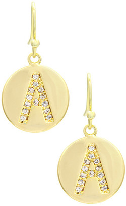 Mistraya Jewelry CZ Accented Initial Earrings - Multiple Letters $123 thestylecure.com