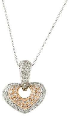 Chimento 18K Diamond Heart Pendant Necklace