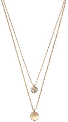 Forever 21 Layered Disc Charm Necklace
