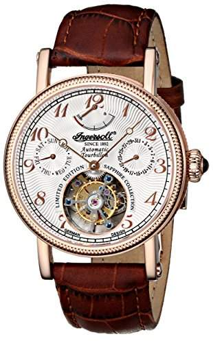 Ingersoll Men's IN5308RWH Raton Tourbillon Analog Display Automatic Self Wind Brown Watch
