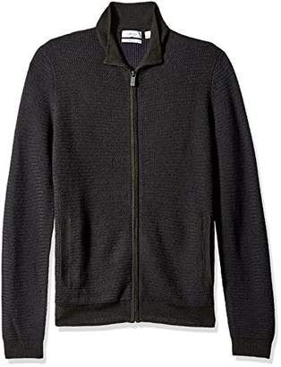 Calvin Klein Men's Merino Full Zip Sweater