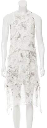 Elizabeth and James Floral Print Sleeveless Dress
