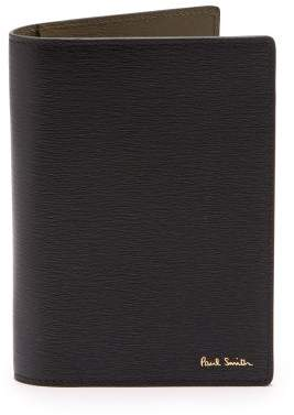 Paul Smith Leather Passport Holder - Mens - Black