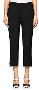 Prada Women's Worsted Wool Chain-Link Crop Trousers - Black
