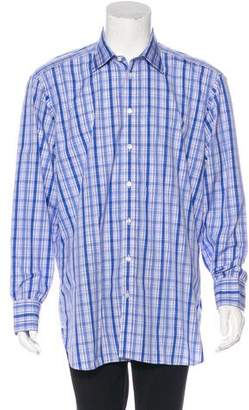 Turnbull & Asser Flannel Button-Up Shirt