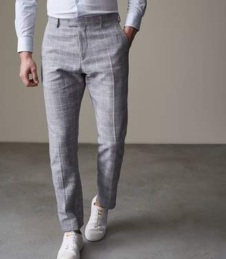 Reiss KRAY T SLIM FIT CHECKed TROUSERS Blue