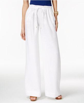 MICHAEL Michael Kors Linen Wide-Leg Pants $140 thestylecure.com