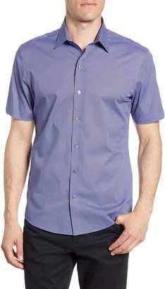 Zachary Prell Jackson Regular Fit Short Sleeve Button-Up Shirt