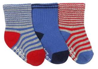 Infant Boys' Cool Stripe Baby Sock 3 Pack (9 Pairs).