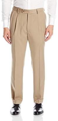 Louis Raphael Rosso Men's Pleated Easy Care Dress Pant with Hidden Flex Waistband