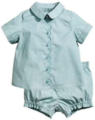 H&M Blouse and Shorts - Turquoise