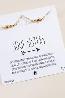 francesca's Bryan Anthonys Soul Sisters Best Friend Arrow Necklace - Gold