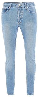 Topman Mens Powder Blue Stretch Skinny Jeans