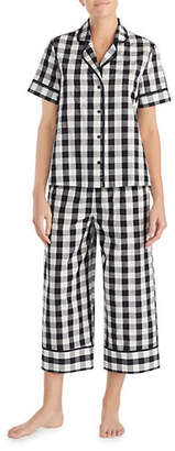 Kate Spade Two-Piece Checkered Pyjama Set