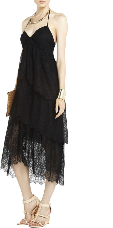 BCBGMAXAZRIA Kat Lace Tiered Dress