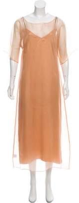 Kamperett Silk Slip Maxi Dress w/ Tags