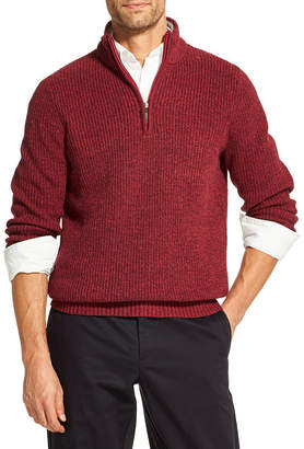Izod Sherpa Lined Collar Sweater