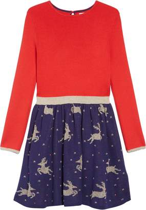 Boden Mini Reindeer Sweater Dress