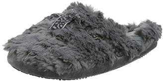 Isotoner Women's Fur Mule with Ribbon Open Back Slippers,39 EU