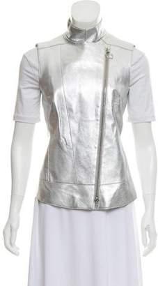 Akris Punto Metallic Zip-Up Vest