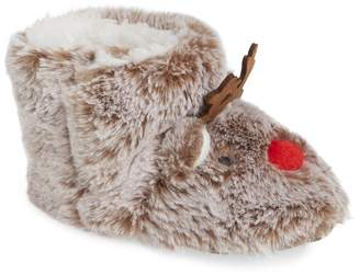 Joules Character Faux Fur Slipper