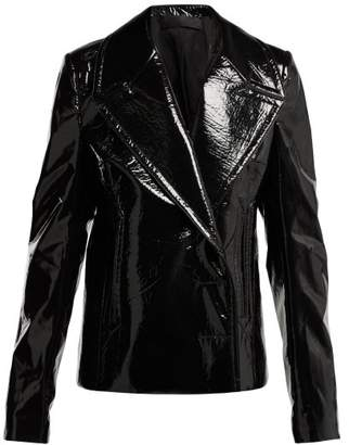 Haider Ackermann Magnolia Vinyl Jacket - Womens - Black