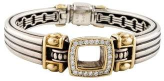 Lagos Diamond Cushion Fluted Bracelet