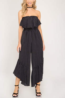 Factory Unknown Strapless Jumpsuit