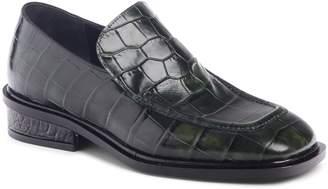 Dries Van Noten Croc Embossed Loafer