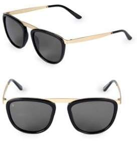 Pusherman 52MM Square Browline Sunglasses